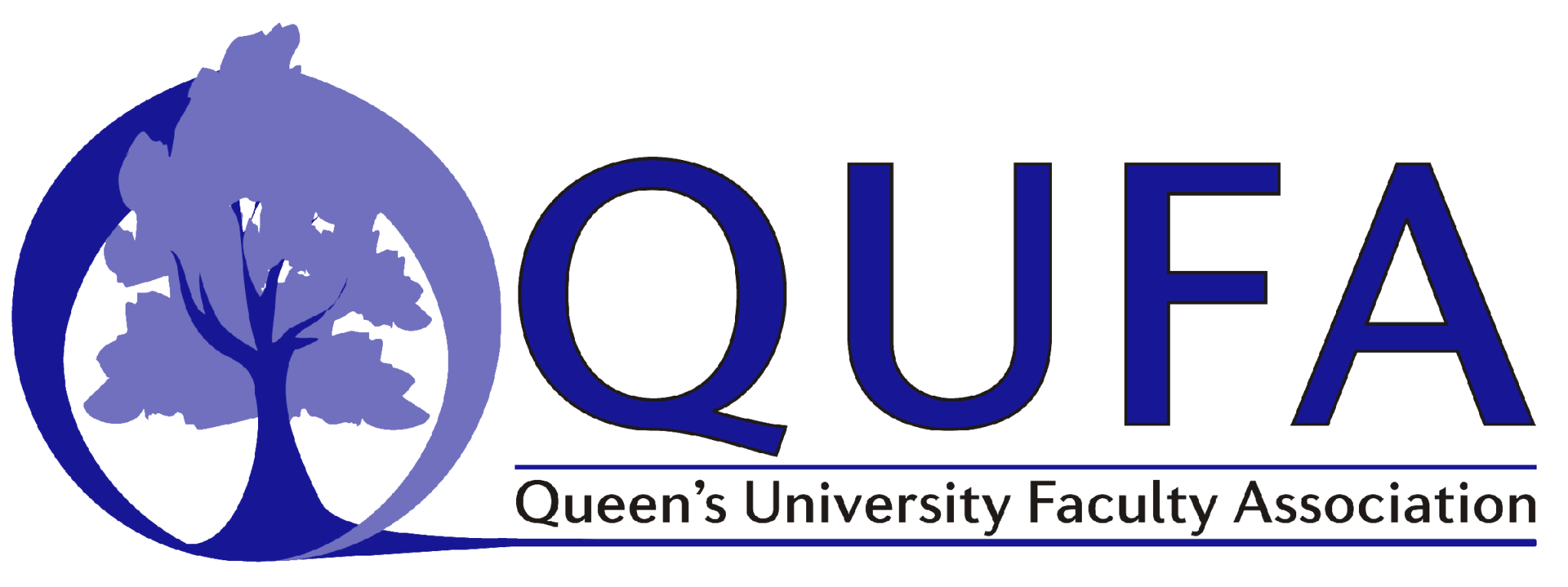 Queen's University Faculty Association logo with a tree